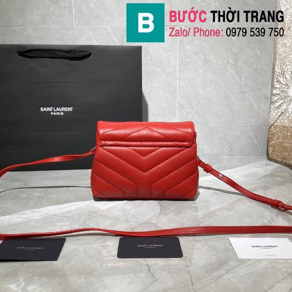 Túi xách YSL Saint Laurent LouLou bag siêu cấp màu đỏ size 20cm - 467072