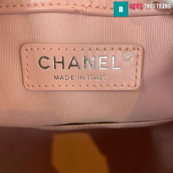 Túi xách Chanel Gabrielle Backpack siêu cấp màu hồng size 24cm - A94485