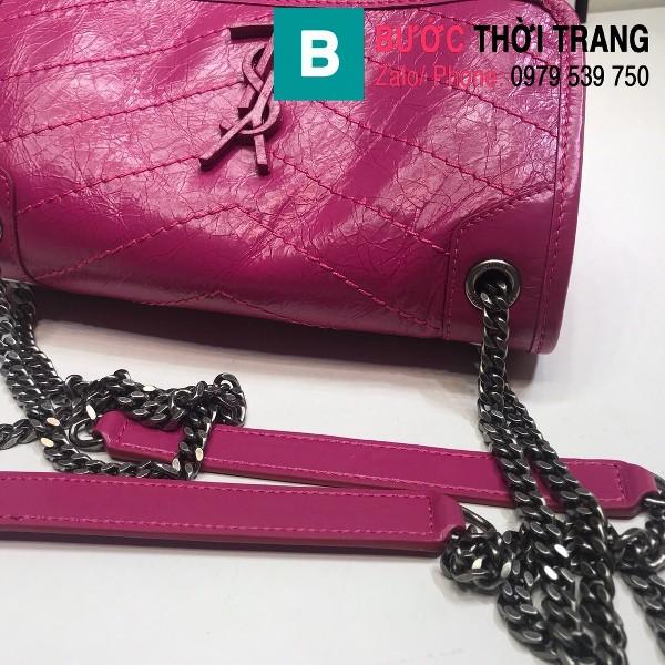 Túi xách YSL Niki siêu cấp da cừu nguyên bản màu hồng size 22cm - 533037
