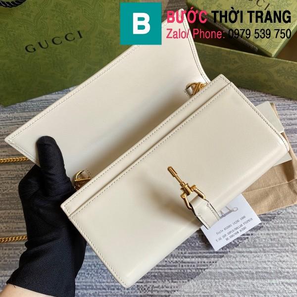 Túi xách Gucci Jacki 1961 siêu cấp da bê màu trắng size 19cm - 652681