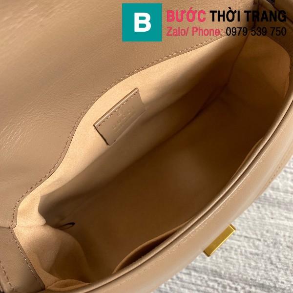 Túi xách Gucci Marmont mini top handle siêu cấp da chevron màu galet size 21cm - 547260