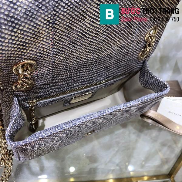 Túi xách Bvlgari Serventi Cabochon siêu cấp da rắn màu 3 size 22cm