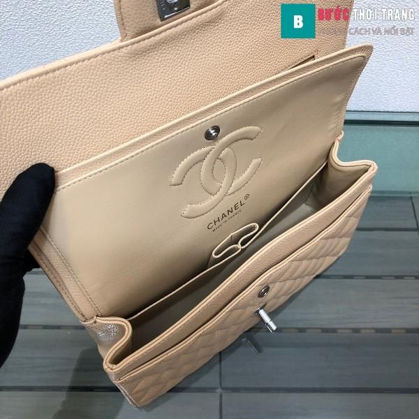 Túi xách Chanel Classic siêu cấp màu trắng ngà size 25 cm - 1112