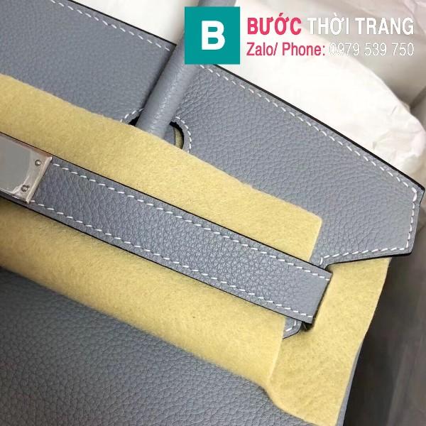 Túi xách Hermes Birkin siêu cấp da Togo màu xanh hòa bình size 30cm
