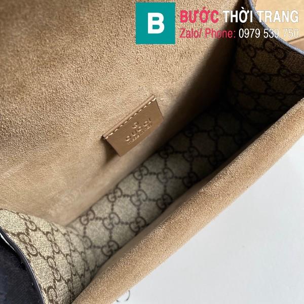 Túi xách Gucci Dionysus siêu cấp small da gốc khóa đầu rồng viền nâu bò size 20 cm - 421970