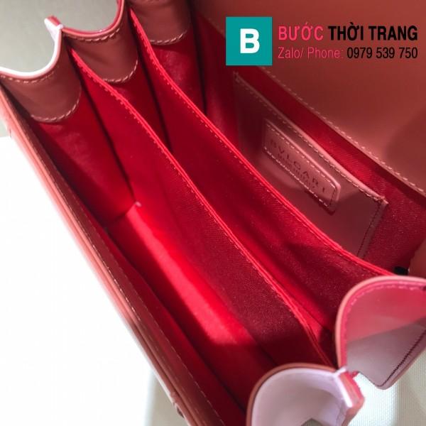 Túi xách Bvlgari serventi forever siêu cấp da bê màu cam đất size 18 cm