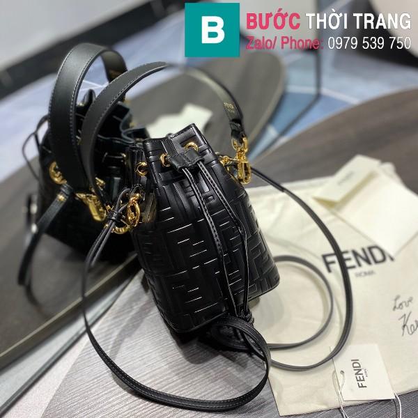 Túi xách Fendi Mon Tresor siêu cấp da bê màu đen size 12cm