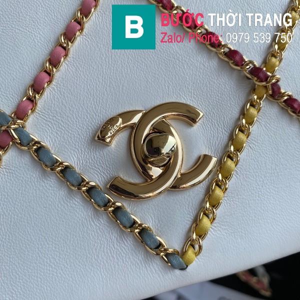 Túi xách Chanel Flap Bag siêu cấp da cừu màu trắng size 22cm - AS2383