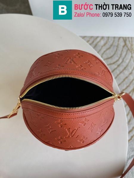 Túi xách Louis Vuitton Lvxnba Ball in basket siêu cấp da bê màu cam đất size 30cm - M57974