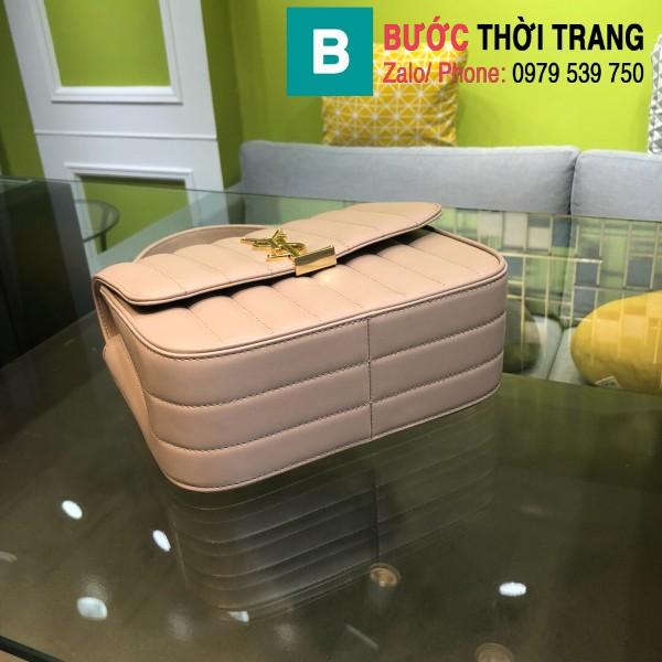 Túi xách YSL Saint Laurent Vicky bag siêu cấp da cừu non màu hồng nhạt size 20.5cm - 532612