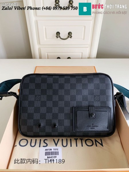 Túi Louis Vuitton Anton Tote Damier Graphite Canvas - LV N44339