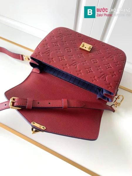 Túi Louis Vuitton Pochette Mettis siêu cấp màu đỏ đô size 25 cm - M41487