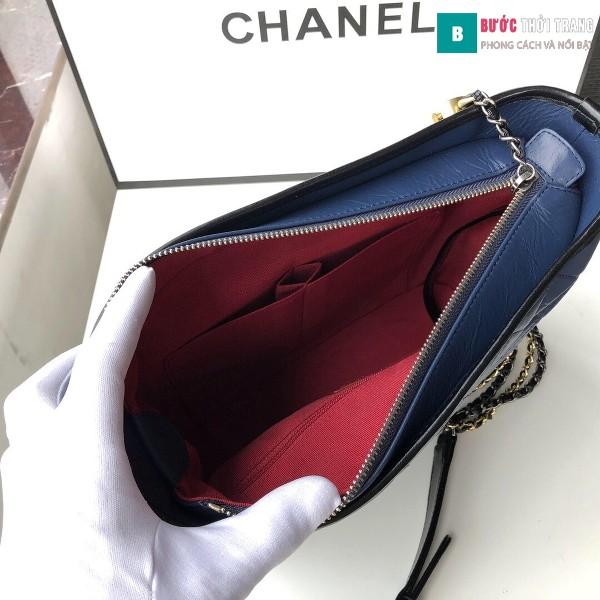 Túi xách Chanel Gabrielle hobo bag siêu cấp màu xanh đen size 28cm - 93824