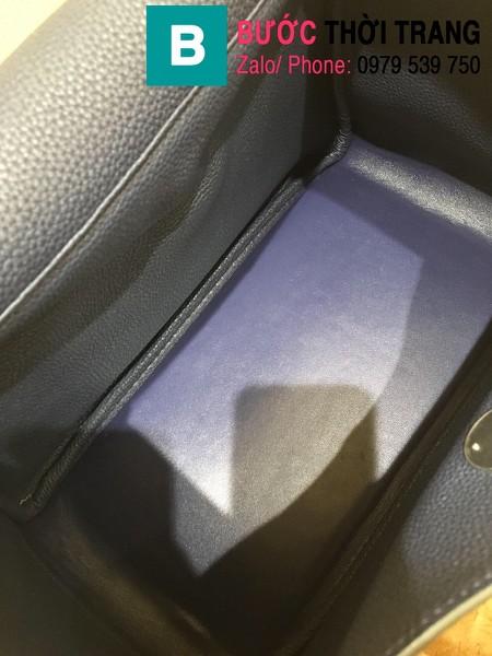 Túi xách Hermes Lindy siêu cấp da thật màu xanh size 26cm