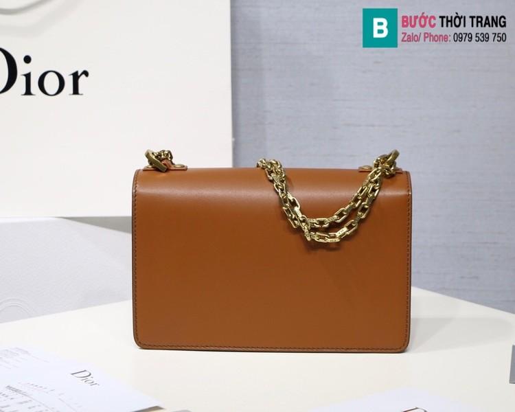 Túi xách Dior J'adior siêu cấp da trơn màu nâu bò size 25cm