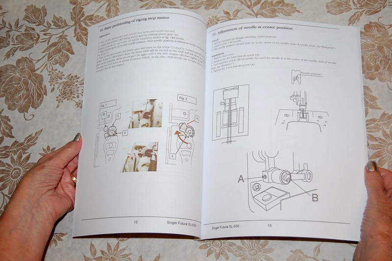 Sewing Factory Authorized Service Manual for Singer XL-550 Sewing ...