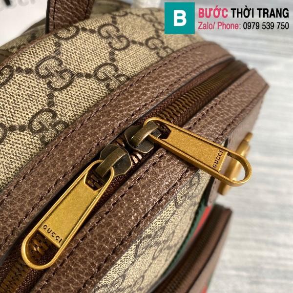Túi xách Gucci Ophidia GG small backpack siêu cấp viền nâu size 22 cm - 547965