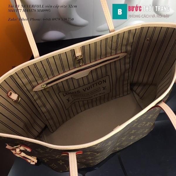 Túi LV NEVERFULL MM siêu cấp họa tiết LV lót nâu 32cm - M40995