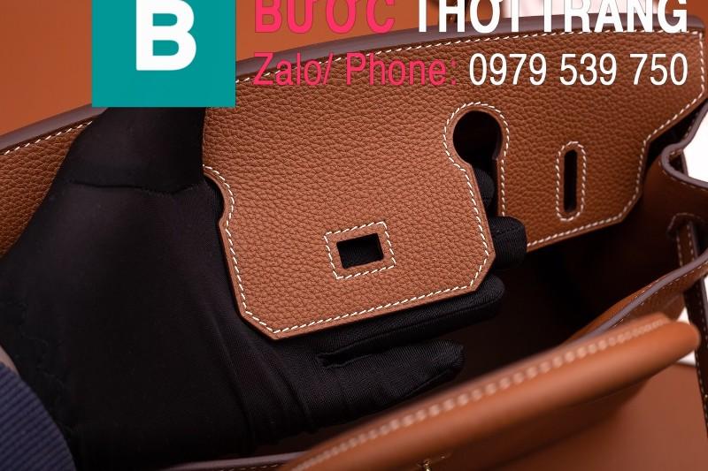 Túi xách Hermes Birkin siêu cấp da bê Togo nâu size 30cm