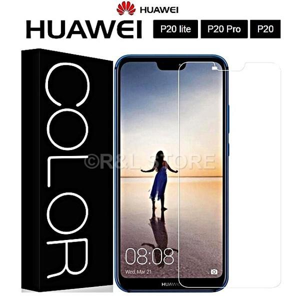 COVER per Huawei P20/Lite/Pro CUSTODIA TPU PELLICOLA VETRO TEMPERATO 4D CURVO
