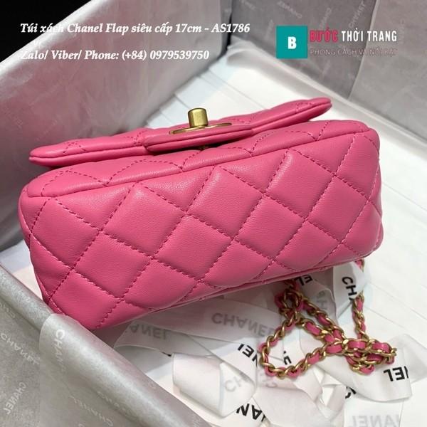 Túi Xách Chanel Flap Bag siêu cấp da cừu màu hồng size 17cm- AS1786
