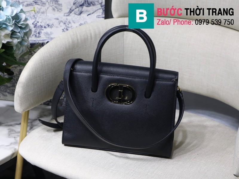 Túi xách Dior St. Honoré Bag siêu cấp da bê màu đen size 25cm