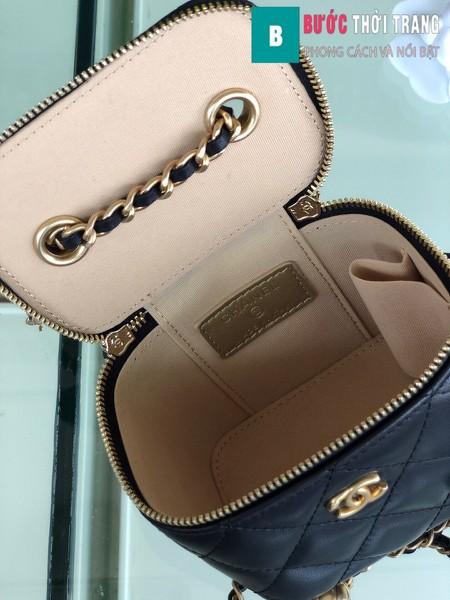 Túi xách Chanel Small vanity bag wich strap siêu cấp màu đen size 11 cm - AP1147y