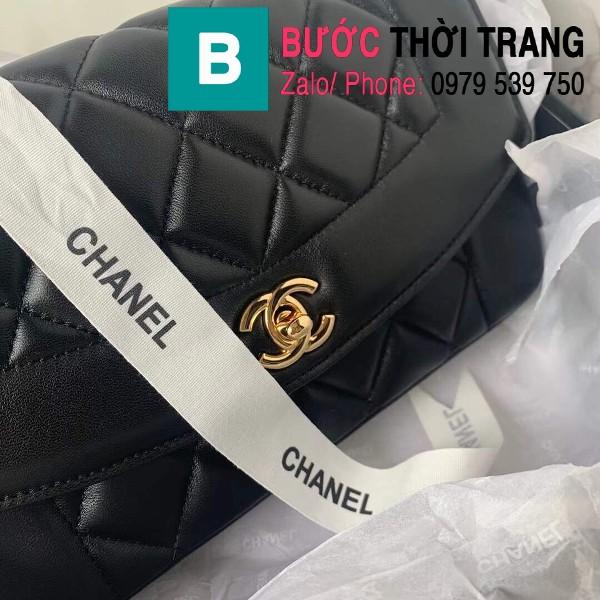 Túi đeo chéo Chanel siêu cấp mẫu mới da cừu màu đen size 23cm - AS1488
