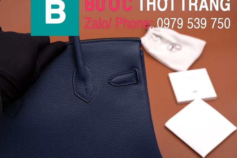 Túi xách Hermes Birkin siêu cấp da bê Togo màu xanh đen size 30cm