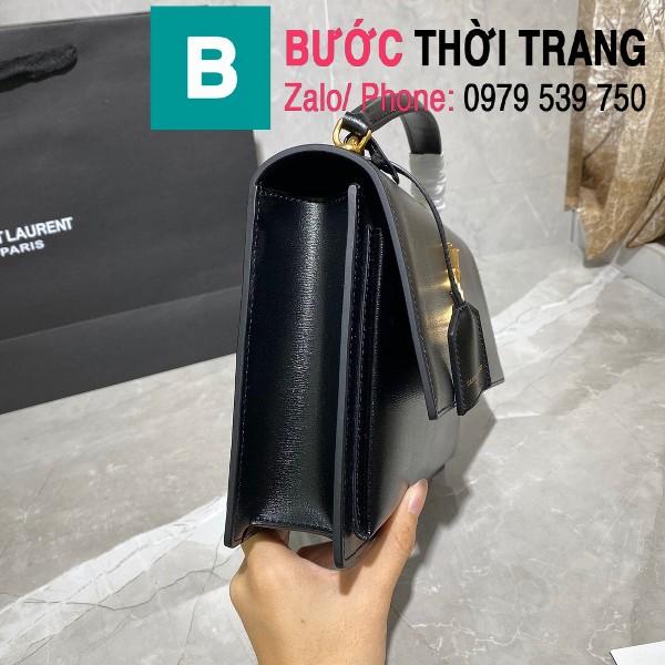 Túi xách YSL Saint Laurernt Sunset siêu cấp da bê màu đen size 25cm - 634723