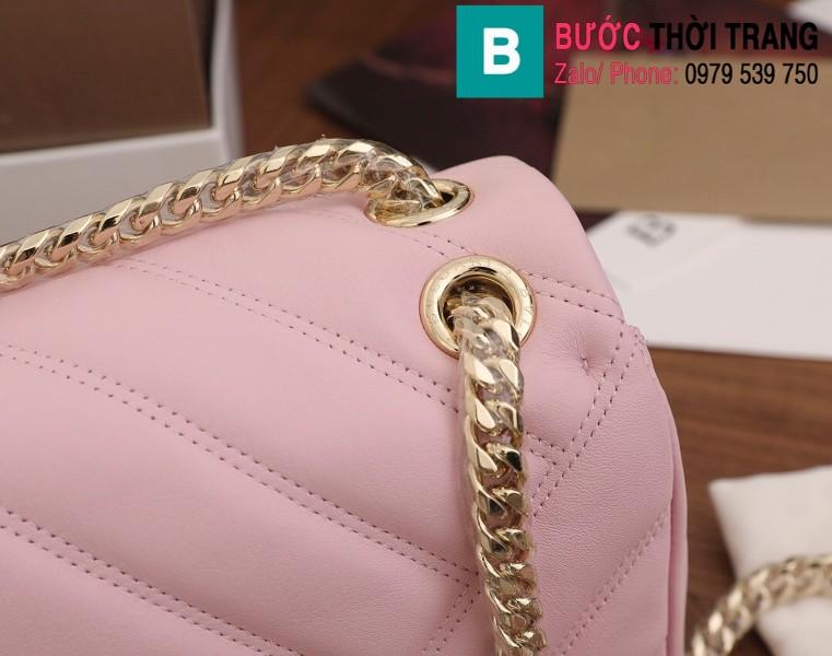 Túi xách Bvlgari Serventi Cabochon siêu cấp da bê màu hồng  size 22.5cm
