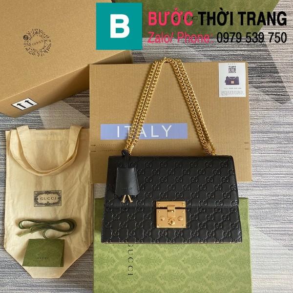 Túi xách Gucci Tian Padlock Shoulder bag siêu cấp màu đen size 30cm - 409486