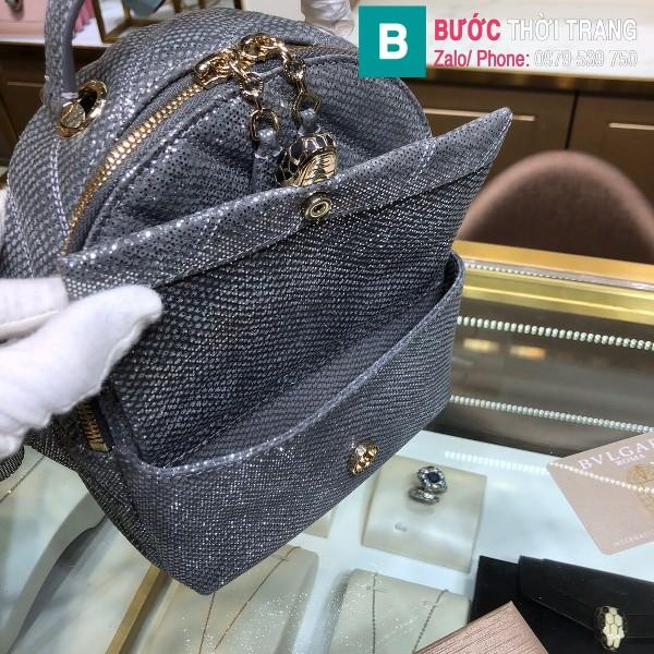 Túi Bvlgari Serventi Cabochon ba lô siêu cấp da rắn màu 3 size 18cm