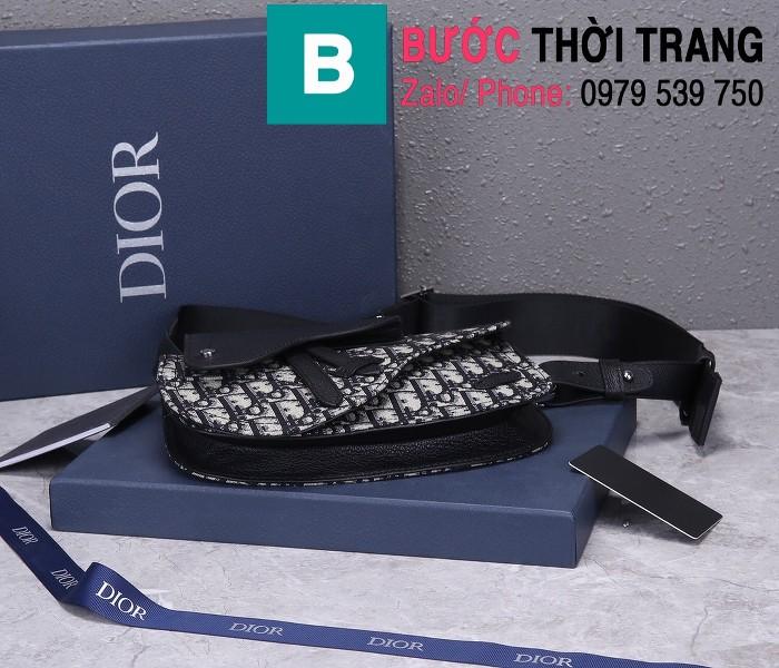 Túi xách Dior Saddle Bag siêu cấp chất liệu vải casvan màu 1 size 24cm