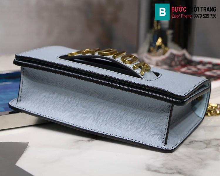 Túi xách Dior J'adior siêu cấp da xước màu xanh size 25cm
