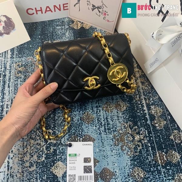 TÚi xách Chanel Small flap Bag siêu cấp màu đen size 17.5 cm - AS2189