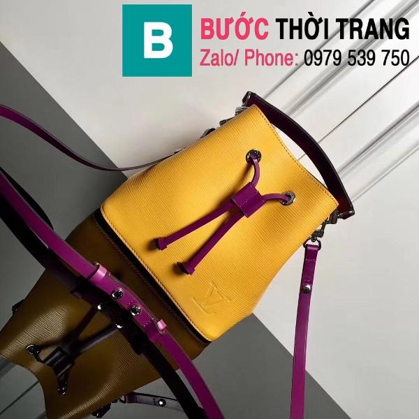 Túi xách LV Louis Vuitton NéoNoé BB Bag siêu cấp da sần màu vàng size 20cm - M52853
