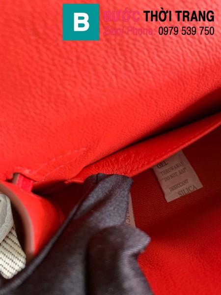 Túi xách Hermes Kelly mini siêu cấp da epsom màu đỏ size 19.5cm