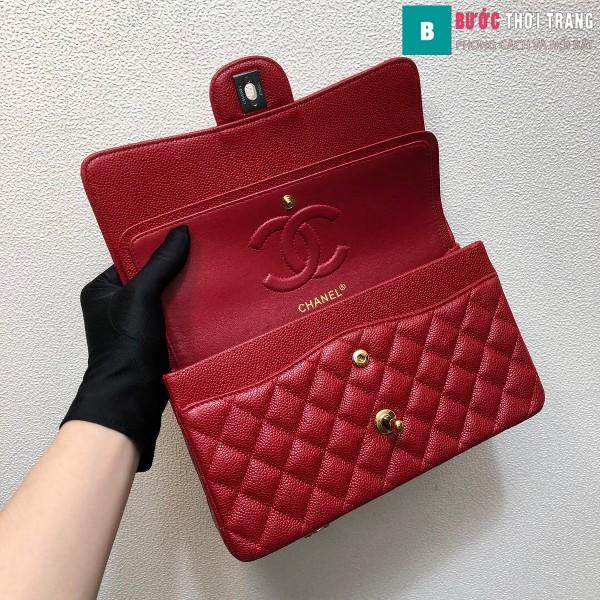Túi xách Chanel Classic siêu cấp màu đỏ size 25 cm - 1112