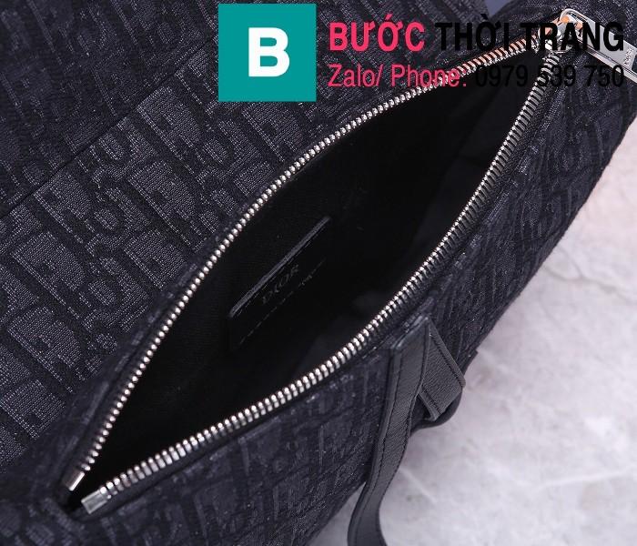 Túi xách Dior Saddle Bag siêu cấp chất liệu vải casvan màu 8 size 28.6cm
