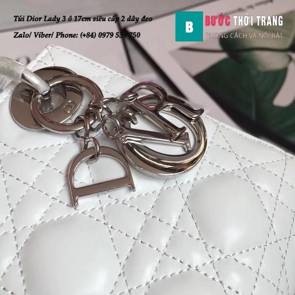 Túi Dior Lady 3 ô 17cm siêu cấp