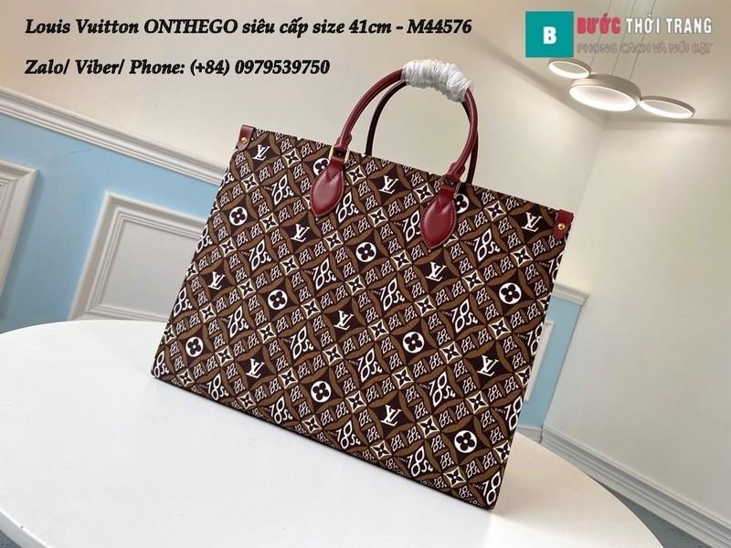 Túi xách Louis Vuitton ONTHEGO 2020 siêu cấp họa tiết nâu size 41cm - M44576