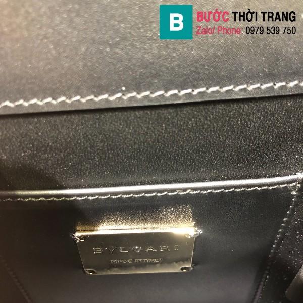Túi xách Bvlgari serventi forever siêu cấp da bê màu đen size 18 cm
