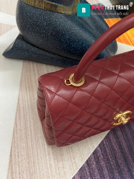 Túi xách Chanel Coco siêu cấp màu đỏ đô size 29 cm - A92992