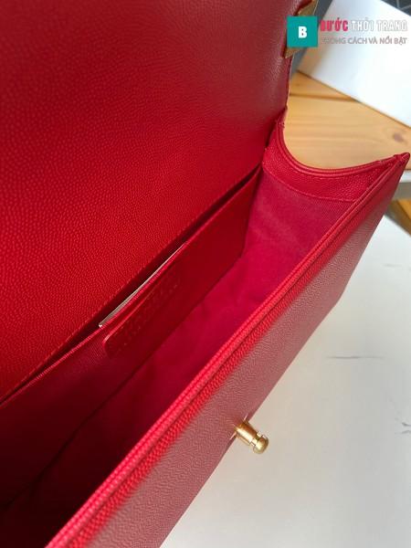 Túi xách Chanel boy siêu cấp đỏ size 25 cm - A67086