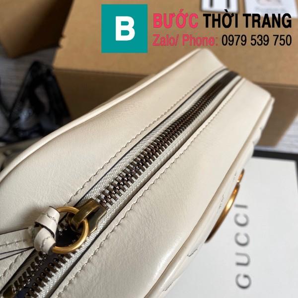 Túi xách Gucci Marmont small matelassé shoulder bag siêu cấp màu trắng size 24cm - 447632