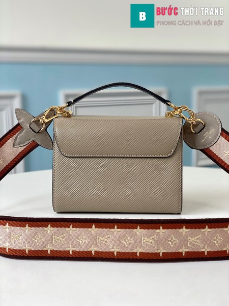 Túi xách Louis Vuitton Epi leather Twist Mini Handbags siêu cấp màu nâu xám size 19 cm - M57049
