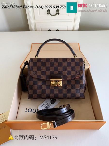 Túi Louis Vuitton Croisette Damier Ebene Compact Crossbody - LV N53000