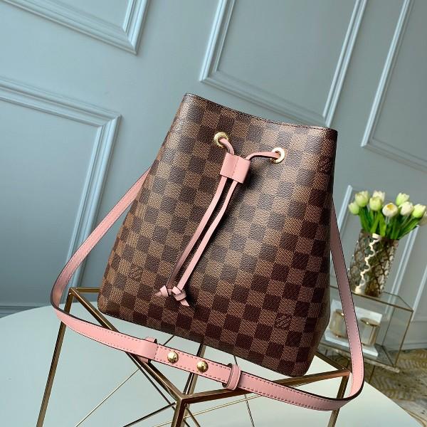Túi xách LV Louis Vuitton Neo Noe siêu cấp caro màu hồng size 26cm -N40198