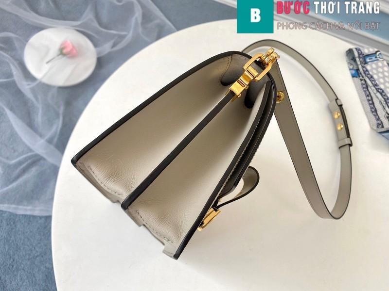 Túi xách LV Louis Vuitton Dauphine MM siêu cấp màu trắng ngà size 25cm - M55835